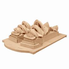 """3D Holz-Puzzle """"Opernhaus von Sydney"""" Gestalten mit Holz."""