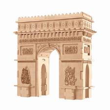 """3D Holz-Puzzle """"Arc de Triomphe"""" Gestalten mit Holz."""