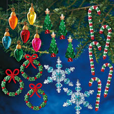Weihnachts-Set für 72 Anhänger Glamouröser Perlen-Weihnachtsschmuck – als Komplettpackungen zum kreativen Selbermachen.