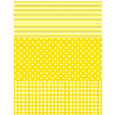 Streifen/Punkte/Karo, Gelb