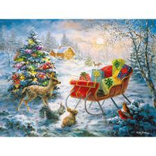 """Puzzle """"Weihnachten der Waldbewohner"""" Ein Spaß für die ganze Familie – spannend und entspannend zugleich."""