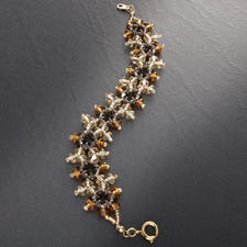 Komplettpackung Armband - Viktoria, Gold Schillernder Schmuck im viktorianischen Stil.