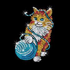 """Paillettenbild für Erwachsene """"Katze"""" Paillettenbilder mit eindrucksvollen Motiven"""