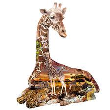 """Puzzle """"Giraffe"""" Ein Spaß für die ganze Familie – spannend und entspannend zugleich."""