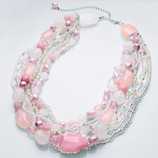 """Komplettpackung Halskette """"Pastell"""" Halsketten zum Selbermachen."""