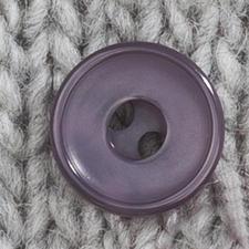 Klassischer Knopf aus Kunststoff, Ø 23 mm, 1 Stück