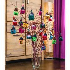 """Komplettpackung Adventkalender """"Häuschen"""" aus Poco von Junghans-Wolle Adventkalender aus einzelnen kleinen gestrickten Häuschen"""
