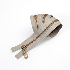 Reißverschluss, Grau, 45 cm