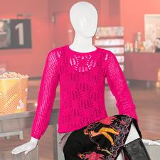 Modell 004/5, Damenpullover aus Angoseta von Junghans-Wolle