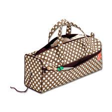 Tasche mit Wollspender Punktedesign in Cappuccino