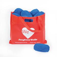 Handstrickgarn-Paket inklusive City-Shopper Handstrickgarn-Paket inklusive Einkaufsbeutel.