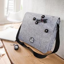 """""""Postmanbag"""" aus Filz von Lana Grossa"""