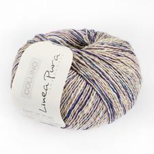 017 Leinen/Marine/Violett
