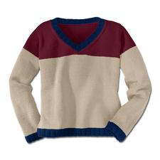Modell 343/3, Pullover aus Merino-Cotton von Junghans-Wolle