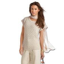 Modell 104/5 B, Damenpulli aus Contrato von Junghans-Wolle