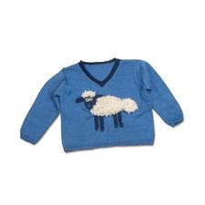 """Komplettpackung Kinderpullover """"Shaun – das Schaf"""" aus Cotonia II und Malmö von Junghans-Wolle"""