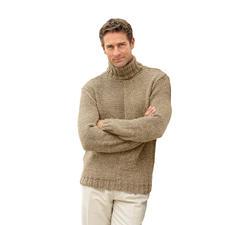 Modell 140/4, Herrenpullover aus Achat von Junghans-Wolle