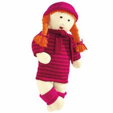 Modell 202/9, Puppe Jule mit Pullikleid, Stulpen, Mütze und Schal aus Poco von Junghans-Wolle