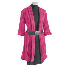 Modell 166/0, Long-Jacke aus Clou von Junghans-Wolle