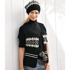 Modell 122/0, Damenweste mit Mütze aus Peru von Junghans-Wolle