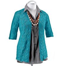 Modell 451/1, Damenjacke ohne Halsausschnitt-Abnahmen aus Seidana® Modell 451/1, Damenjacke aus Seidana® von Junghans-Wolle
