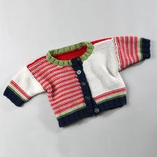 Anleitung 327/3, Babyjacke aus Merino-Cotton von Junghans-Wolle