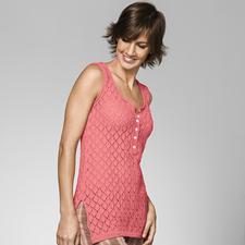 Modell 271/3, Damentop aus Seidana® von Junghans-Wolle