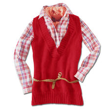 Anleitung 107/3, Ärmellose leicht taillierte Tunika aus Peru von Junghans-Wolle