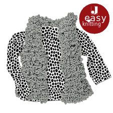 Modell 273/6, Weste aus Nicka Curly von Junghans-Wolle