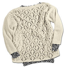 Modell 114/3, Pullover aus Fluffetto von Junghans-Wolle