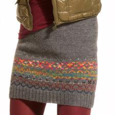 Modell 166/3, Rock mit Norwegermuster aus Freizeit uni und Freizeit-Color, 4-fädig von Junghans-Wolle