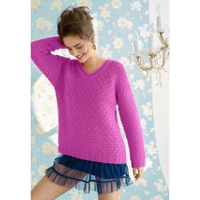 Modell 366/4, Pullover aus Andania von ggh, Modell aus Rebecca Heft 57