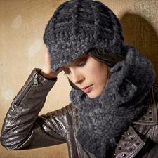 Modell 334/4, Mütze und Schal aus Nordico von Lana Grossa