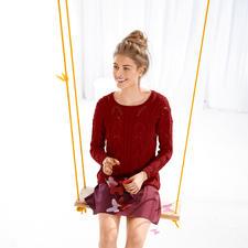 Modell 706/5, Pullover aus Linova von ggh, Modell aus Rebecca Heft 58