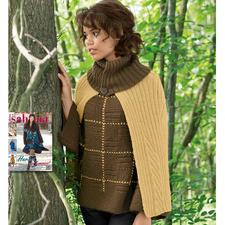 Modell 035/5, Pullover mit Cape aus Peru von Junghans-Wolle