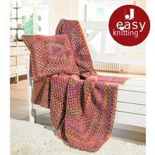 Modell 450/6, Decke und Kissen aus Scala von Junghans-Wolle