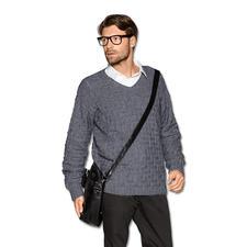 Modell 079/5, Pullover aus Kaschmir von Junghans-Wolle