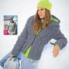 Modell 101/5, Jacke aus Merino Dick von Junghans-Wolle