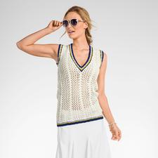 Modell 076/6, Damenpulli aus Cotonara von Junghans-Wolle