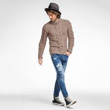 Modell 080/6 Herrenpullover aus Clou von Junghans-Wolle