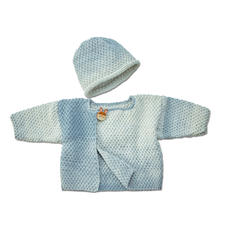 Modell 098/6, Baby-Jacke und Mütze aus Pinta von Junghans-Wolle