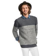 Modell 100/6, Herrenpullover aus Flip von Junghans-Wolle