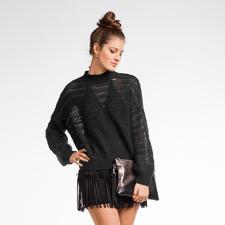 Modell 132/6, Damenpullover aus Aerea und Merino-Cotton von Junghans-Wolle