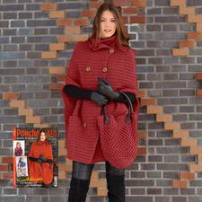 Modell 229/6, Häkelponcho und Tasche aus Clou von Junghans-Wolle