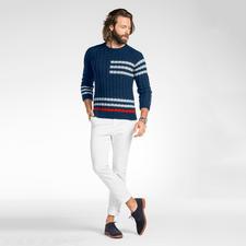 Modell 316/6, Pullover aus Merino-Cotton von Junghans-Wolle