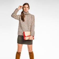 Modell 324/6, Damenpullover aus Sprizzo von Junghans-Wolle