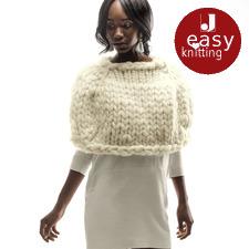 Modell 375/6, Cape aus Miss Wool von Schoppel-Wolle