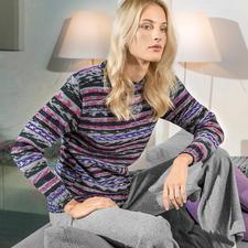 Modell 389/6, Pullover aus Merino Extrafine Color 120 von Schachenmayr