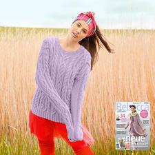 Modell 417/6, Pullover aus Sportlife von ggh, Modell aus Rebecca Heft 63
