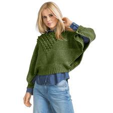 Modell 421/6, Damen Ponchopullover aus Katina von Junghans-Wolle
